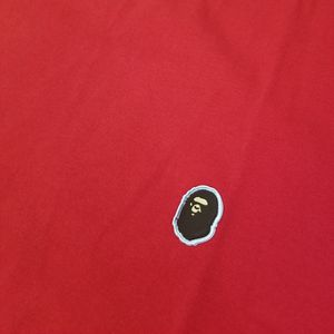 BAPE Silicon Ape Head One Point Tee Red for Sale in Chicago, IL