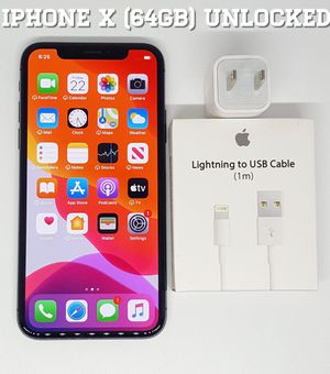 IPhone X (64GB) Factory-UNLOCKED + Accessories for Sale in Arlington, VA
