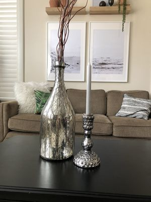 Vase and Candle holder for Sale in Chino, CA