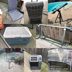 Table bed frame heater telescope cooler for Sale in Modesto, CA