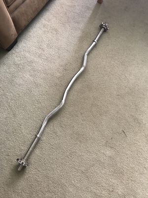 Weightlifting curl bar for Sale in New Providence, NJ