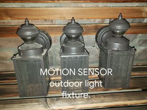 Motion sensor outdoor light fixtures 40 each. for Sale in Peyton, CO