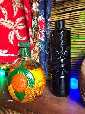 Antique Vintage 1950s 1960s Glass Florida Tiki Bar Hawaii Liquor Bottles for Sale in Fort Lauderdale, FL