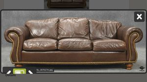 Leather Sofa/Couch 3 Seater for Sale in Adamstown, MD