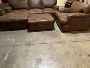 Sectional and Chair with Ottoman for Sale in Phoenix, AZ