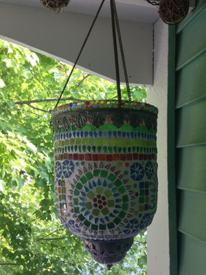Stunning Vintage glass tile hanging candle holder for Sale in Indianapolis, IN