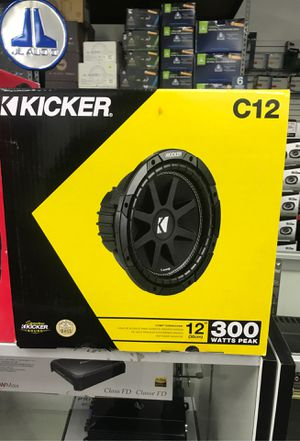 """SUBWOOFER kicker Comp C124 300 watts comp series 12"""" 4ohm 1channel subs speaker sound system car audio for Sale in Downey, CA"""