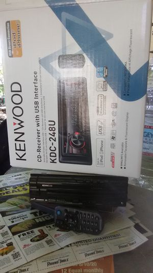 Kenwood car stereo radio usb interface receiver and CD player with remote brand new for Sale in Visalia, CA