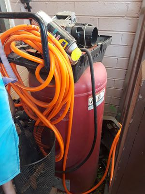 Husky 60 gallon compressor works fine just needs piston seal ..to compres air into tank for Sale in Buckeye, AZ
