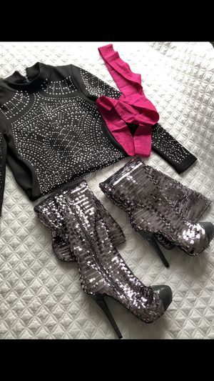 thigh high boots heels size 8 for Sale in HILLTOP MALL, CA