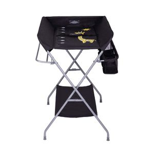 Black Baby Changing Table, Folding Diaper Station Nursery Organizer for Infant for Sale in Rancho Cucamonga, CA
