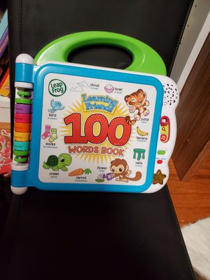 LeapFrog Learning Friends 100 Words Book Green Game Interactive Kids Educational for Sale in Dallas, TX