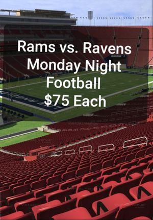 Rams vs. Ravens Tickets ● Monday Night Football ● Nov 25th for Sale in Brea, CA