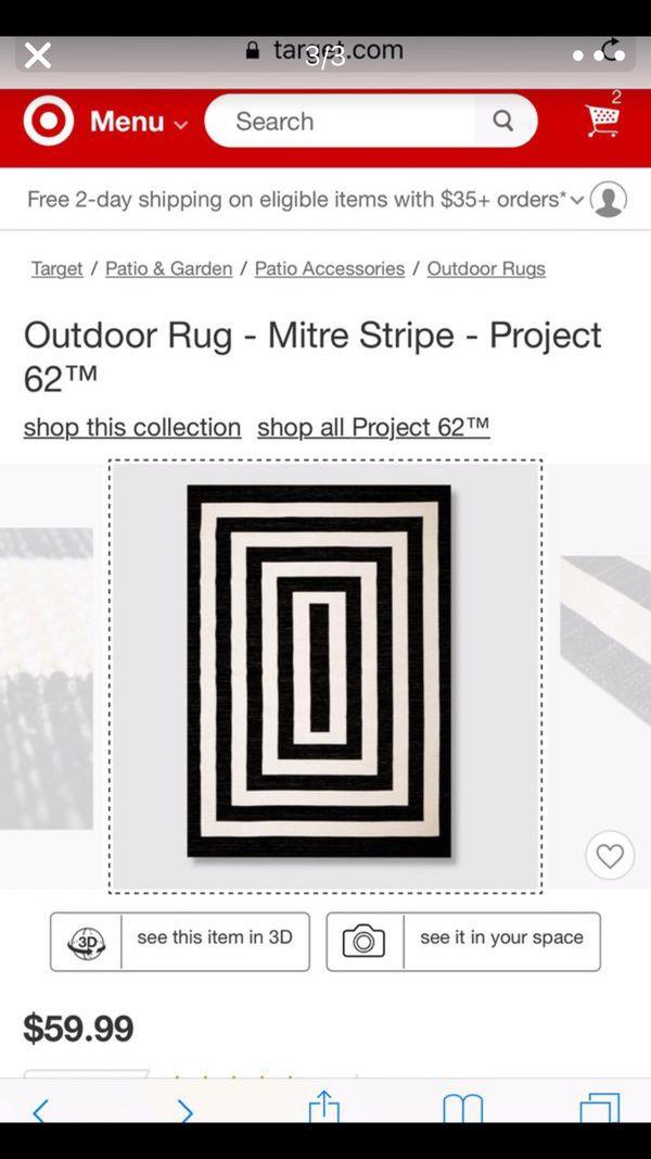 Outdoor Indoor Rug - Mitre Stripe