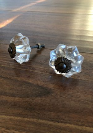 Pair of Antique Glass Pull Knobs for Sale in Santa Monica, CA