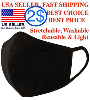 Face mask black fashion washable, Reusable, Breathable for Sale in Alexandria, VA