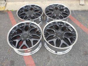 24 inch black rims. 6 lug Chevy, GMC, Caddy for Sale in Montebello, CA