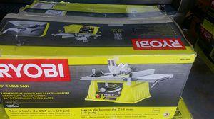 "Ryobi 10 ""table saw 15 amp 140 for Sale in Poinciana, FL"