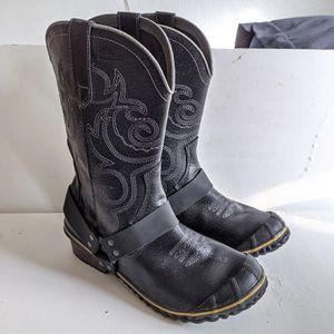 Sorel Slimwestern Leather Rubber Boots Women's 10 for Sale in Tempe, AZ