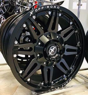 """BRAND NEW! 20"""" XF Offroad Matte Black Rims Wheels 5x5.5 Dodge Ram 5x150 Tundra LX470 Truck 20 Fuel Moto XD for Sale in Tampa, FL"""
