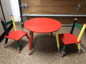 Kids Art/Snack Table - Pencil Table with 2 Matching Pencil Chairs for Sale in Costa Mesa, CA
