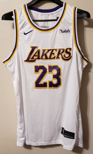 4d89389780a Lebron James LA Lakers White Jersey for Sale in Queens