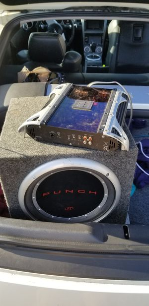 ROCKFORD FOSGATE punch 12 and jbl amp for Sale in Tacoma, WA