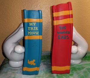 Disney Mickey Mouse My Fair Mouse The Wonder Years Book Ends for Sale in Lemon Grove, CA