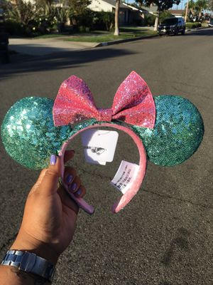 BRAND NEW AUTHENTIC MINNIE MOUSE DISNEY EARS MINT GREEN for Sale in San Diego, CA