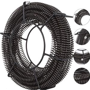 VEVOR Drain Cleaning Cable 60 Feet x 5/8 Inch Drain Auger Cable Cleaner Snake Clog Pipe Sewer Wire Drain Cleaner Machine Drain Auger Pipe (60 Feet x 5 for Sale in Rancho Cucamonga, CA