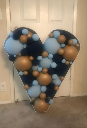 3.5 feet tall balloon filled heart for Sale in San Diego, CA