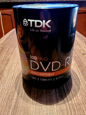 TDK DVD-R Recordable/ Inscriptible DVD's Qty: 100 for Sale in Apex, NC