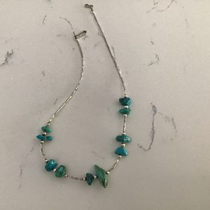Silver And Turquoise Neckless for Sale in Litchfield Park, AZ