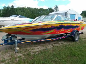 15.5 open bow boat runs good for Sale in Powers, MI