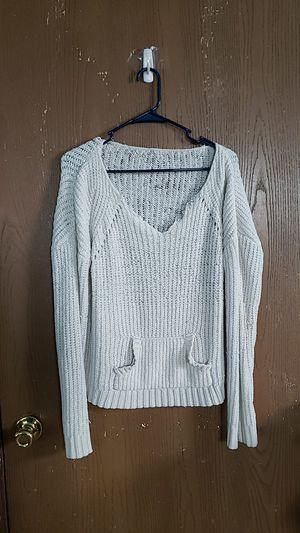 Ribbed white sweater for Sale in Morton, WY