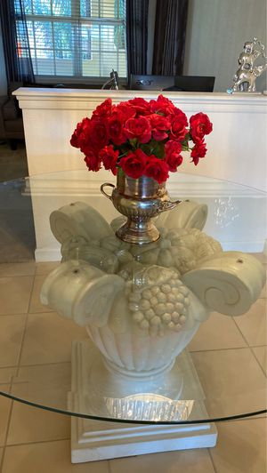 Elegant Glass Dining Table or Entry Foyer Table for Sale in Estero, FL