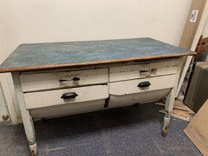 Vintage Farmhouse Baker's Table / Kitchen Island for Sale in La Habra Heights, CA