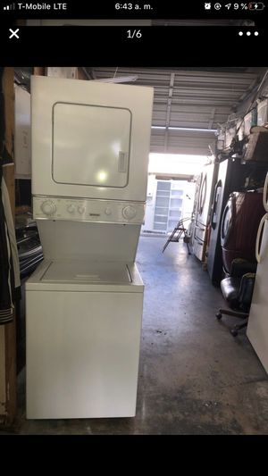 Frigidaire stackable washer and dryer. 6 months warranty for Sale in Pompano Beach, FL
