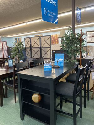 🚚Short Sale🚚 Brand New 5pc Counter Height Dining Set with shelf $499, Finance available for Sale in Sacramento, CA