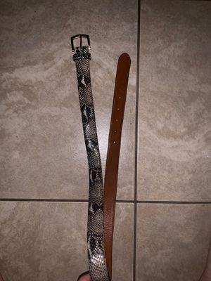 Supreme faux snake skin belt for Sale in Saint Cloud, FL