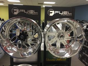 22x12 FUEL RIMS WITH TIRES IN STOCK WE OFFER FINANCE for Sale in Houston, TX