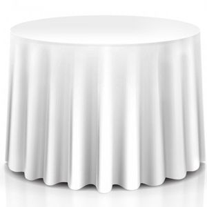 "10 pcs 120"" Home Restaurant Polyester Round Tablecloth HW56595WH for Sale in South El Monte, CA"