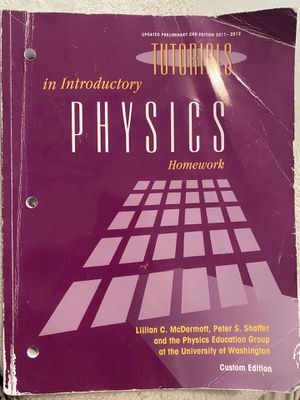 Tutorials in Introductory Physics Textbook for Sale in Seattle, WA
