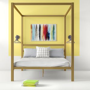 Gold Canopy Bed (Queen) for Sale in San Francisco, CA