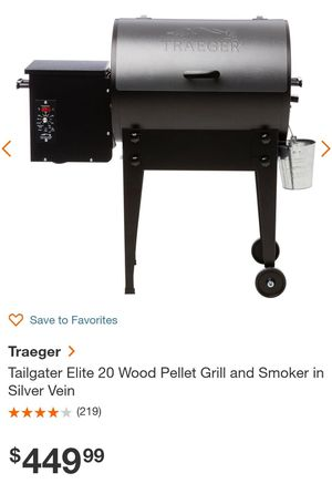 Traeger Tailgater Elite 20 Wood Pellet Grill and Smoker for Sale in Wildomar, CA