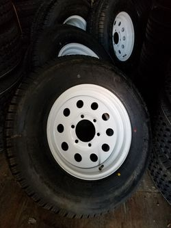 Brand new trailer 225 75 r15 6 lug wheel assemblies for Sale in Irwindale,  CA