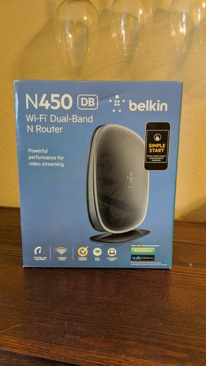 N450 WiFi Dual-Band N Router (Belkin) for Sale in Lake Forest Park, WA