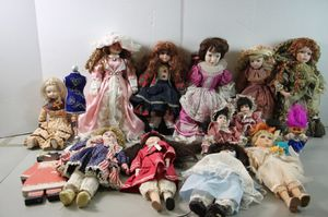 Vintage antique lot 13pc Porcelain girl Dolls Collection Lot everything for $25 for Sale in Los Alamitos, CA
