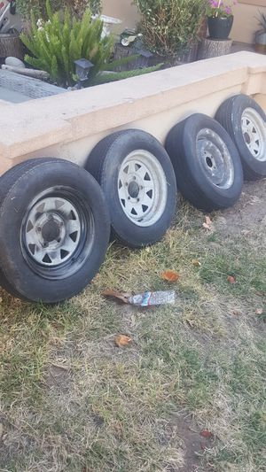 Trailer rims and tires for Sale in Modesto, CA