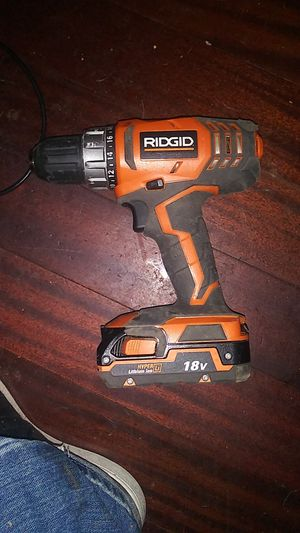 Ridgid cordless drill w/ battery and battery charger for Sale in Glendale, CA
